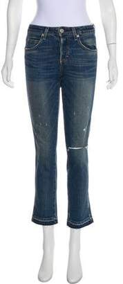 Amo Babe Mid-Rise Distressed Jeans
