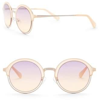 Diane von Furstenberg 49mm Round Sunglasses
