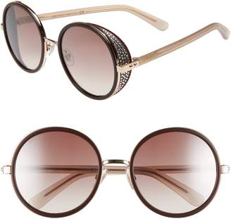 Jimmy Choo Andiens 54mm Round Sunglasses