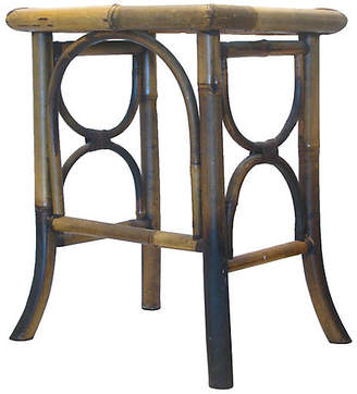 One Kings Lane Vintage Scorched Bamboo Side Table - Chez Vous