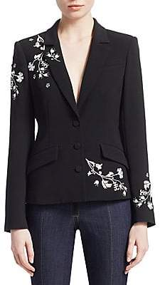 Cinq à Sept Women's Gabrielle Floral Embroidered Blazer