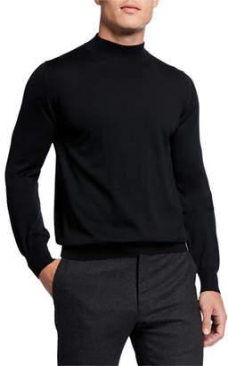 Brioni Men's Mock-Neck Wool Sweater