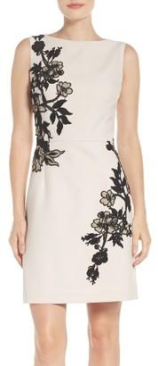 Women's Betsey Johnson Floral Detail Crepe Dress $148 thestylecure.com