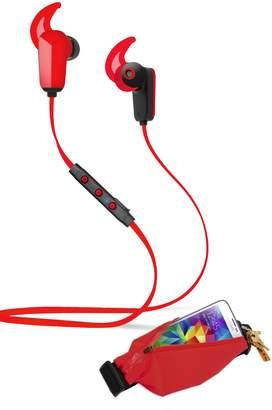 Active Pro Sports Bluetooth 4.0 Earbuds & Running Belt 2-Piece Set - Red