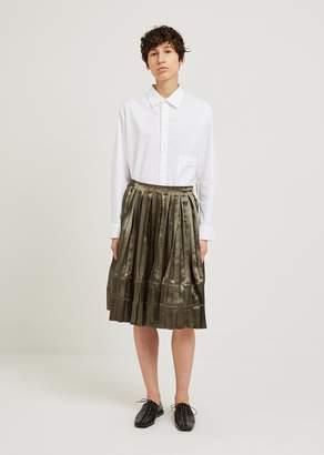 Junya Watanabe Satin Pleated Skirt