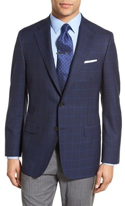 Men's Hickey Freeman Beacon Classic Fit Check Wool Sport Coat $1,095 thestylecure.com