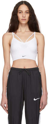 Nike White Seamless Light Sports Bra