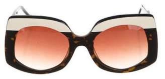 Preen by Thornton Bregazzi Gradient Oversize Sunglasses