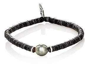 M. Cohen Men's Sibyl Pearl & Disk-Bead Bracelet - Pearl