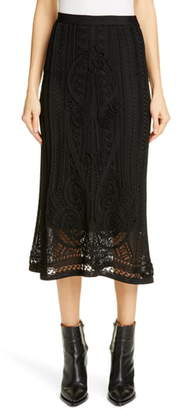 Fuzzi Pointelle Midi Skirt