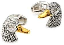 Jan Leslie Sterling Silver Antique Duck Vermeil Cufflinks