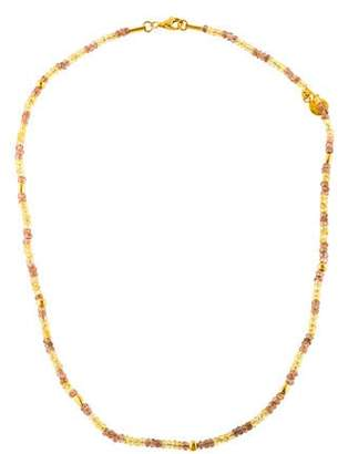 Gurhan Sapphire & Andalusite Bead Strand Necklace