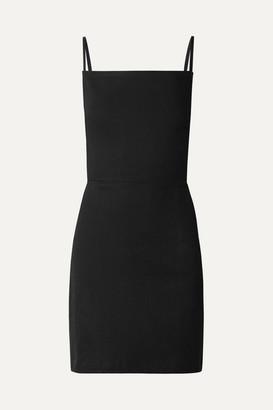 Eve Denim Fabienne Open-back Denim Mini Dress - Black