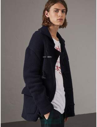 Burberry Knitted Wool Cashmere Blend Jacket