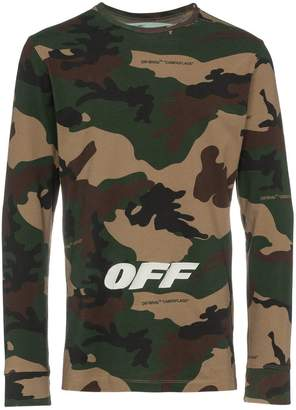 Off-White camouflage print long sleeve t-shirt