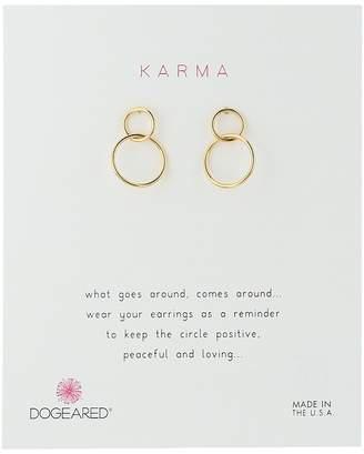 Dogeared Karma, Linked Circle Earrings Earring