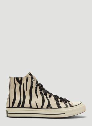 e4803546004 Converse High Chuck Taylor 1970s Zebra Print All Star Sneakers in White