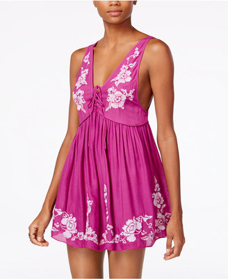 Free People Aida Embroidered Babydoll Dress $88 thestylecure.com