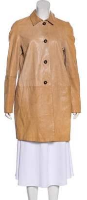 Marni Leather Knee-Length Coat