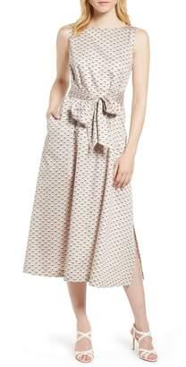 Anne Klein Carlyle Dot Midi Cotton Dress
