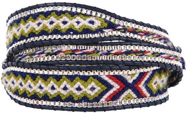 Nakamol Woven and Beaded Bracelet