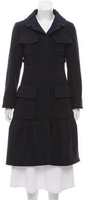 Nina Ricci Notch-Lapel Wool Coat