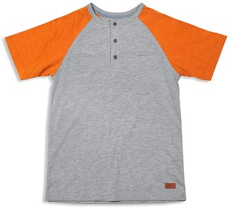7 For All Mankind Boys' Color-Block Slubbed Henley Tee - Sizes 4-7 $25 thestylecure.com