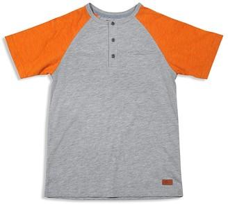 7 For All Mankind Boys' Color-Block Slubbed Henley Tee - Big Kid $30 thestylecure.com