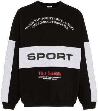 Willy Chavarria Exeter logo print cotton sweatshirt