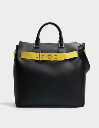 Burberry Large Belt Bag in Black Marais Leather