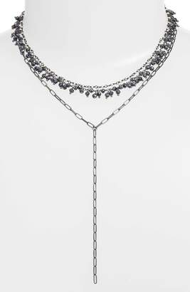 ela rae Layered Lariat Necklace