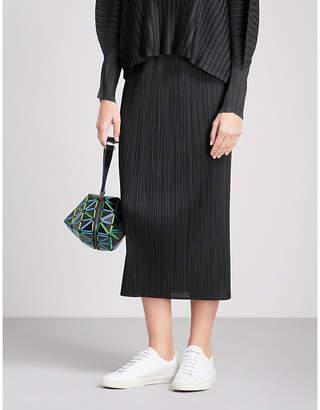 Pleats Please Issey Miyake Basics high-rise pleated skirt
