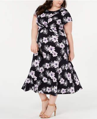 Jessica Howard Plus Size Twisted Midi Dress
