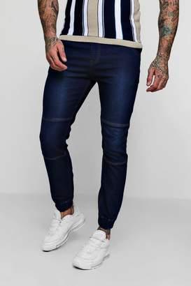 boohoo Skinny Fit Jersey Denim Joggers