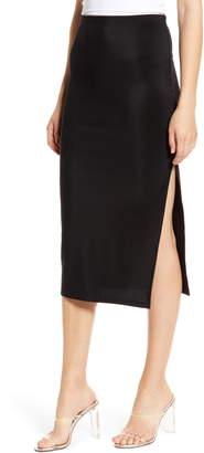 Leith High Side Slit Pencil Skirt