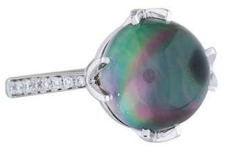 Frederic Sage 18K Diamond, Topaz & Mother of Pearl Jelly Bean Ring