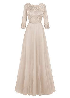 ASBridal Mother of The Bride Dress Lace Formal Evening Gown 3/4 Long Sleeve Party Dresses