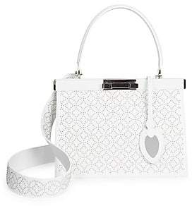 Alaia Women's Small Cecile Studded Leather Satchel