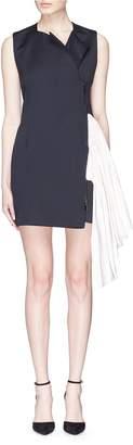 Maticevski 'Sense' sash drape zip dress