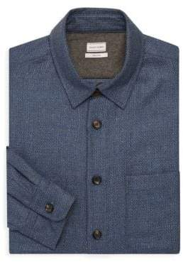 Luciano Barbera Textured Silk & Wool Button-Down Shirt