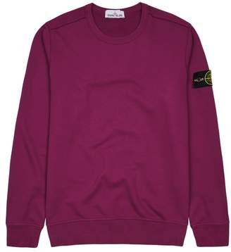 Stone Island Magenta Cotton Sweatshirt