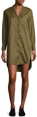 Rag & Bone Mason Long-Sleeve Shirt Dress, Olive