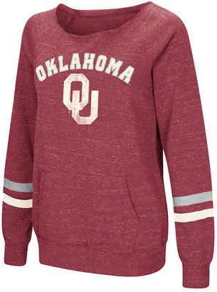 Colosseum Women's Oklahoma Sooners Off the Shoulder Fleece Sweatshirt