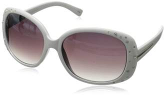 Rocawear Women's R3011 WH Oval Sunglasses