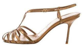 Christian Louboutin Leather Ankle Strap Sandals