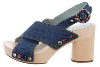 Marc Jacobs Embellished Platform Sandals