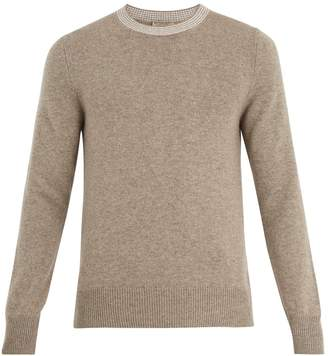 Bottega Veneta Striped-neck cashmere sweater