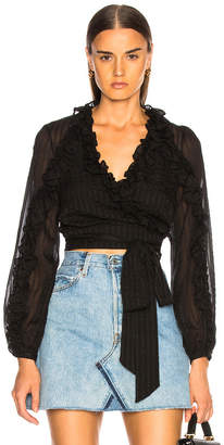 Zimmermann Cascade Wrap Top