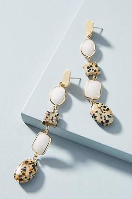 Anthropologie Dalmatian Jasper Drop Earrings