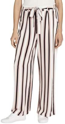 Apricot Pink Deckchair Stripe Palazzo Trousers